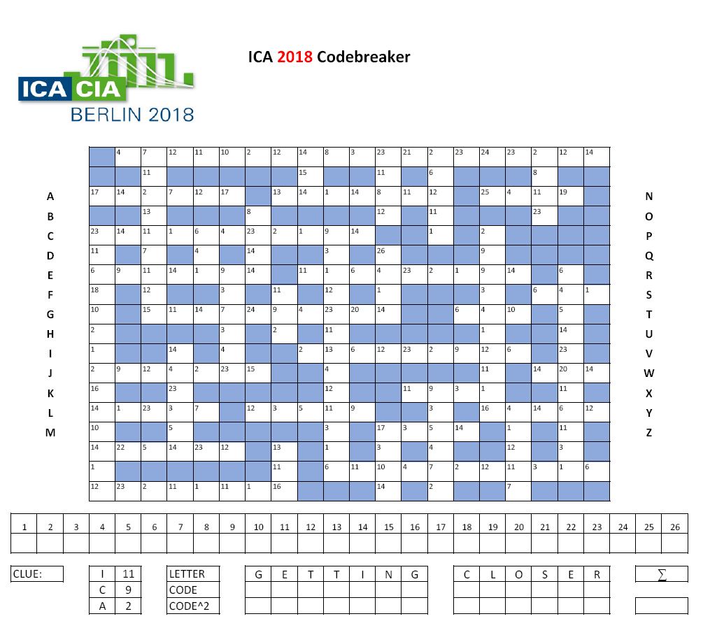 Ica 2018 Codebreaker Puzzle Take A Shot And Solve The Ica 2018